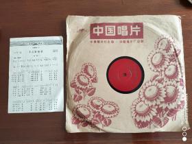 黑胶唱片    60年代唱片   《不忘阶级苦》曾新芳演唱    1965年出版    650149   78转    附歌词单    私藏品好    可播放