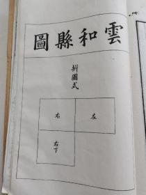 全网唯一,浙江省水陆道里舆图,处州府之云和县五里方图(注:纯图三张)