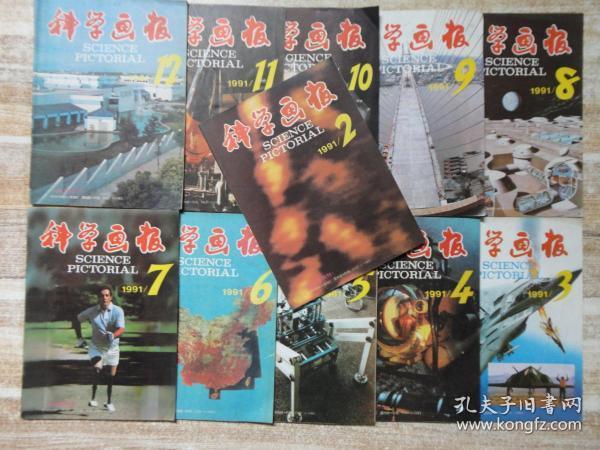 科学画报 1991年第2、3、4、5、6、7、8、9、10、11、12期(11期合售)  e18-6
