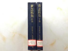 黄念祖集(中下)两本合售【精装】
