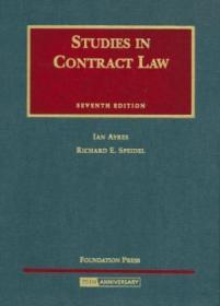 Studies In Contract Law (university Casebook Series)