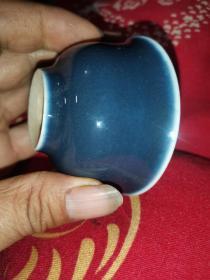 八卦图案的小蓝碗