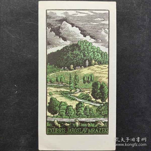 303-ANTONIN DOLEZAL 木版藏书票