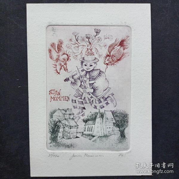 300-JORIS MOMMEN 铜版画 签名