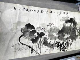 朱鲁平 鲁平,著名画家画一幅