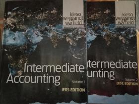 intermediate accounting volurne1+ volurne2,两册合售,精装版G