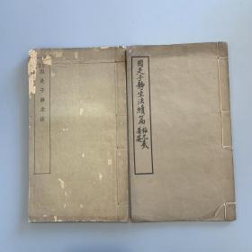 《因是子静坐法》《因是子静坐法续编》,蒋维乔(因是子)撰,民国商务印书馆铅印本,竹纸线装二册,约16开,第一册书口有破损,第二册内页有水渍,封皮均有磨损,见图