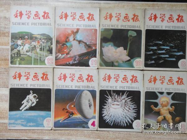 科学画报 1984年第2、3、4、7、8、10、11、12期(8期合售)  e18-6