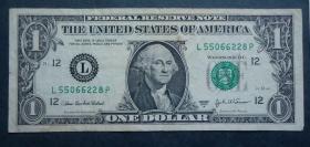 钱币  美国币  1元 华盛顿像