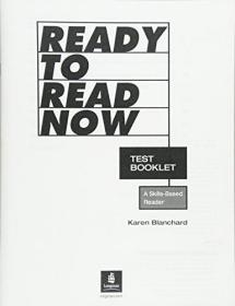 Ready to Read Now Test Booklet