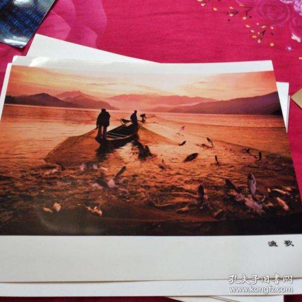 中国黄冈风情大别山全国摄影大展参赛入选作品原照片《渔歌》