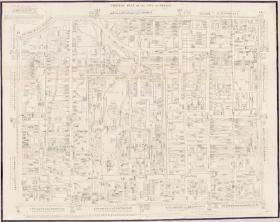 古地图1843 北京市规划图。纸本大小99.48*78.82厘米。宣纸艺术微喷复制。