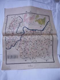 民国地图- -----巴县     45•38cm