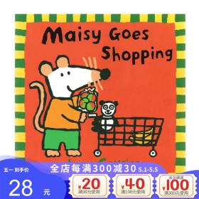 正版全新英文原版绘本 Maisy Goes Shopping 小鼠波波 廖彩杏推荐启蒙图画书