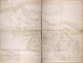 古地图1843 江南水陆营汛全图 清道光23年以前 。纸本大小127.22*97.37厘米。宣纸艺术微喷复制。