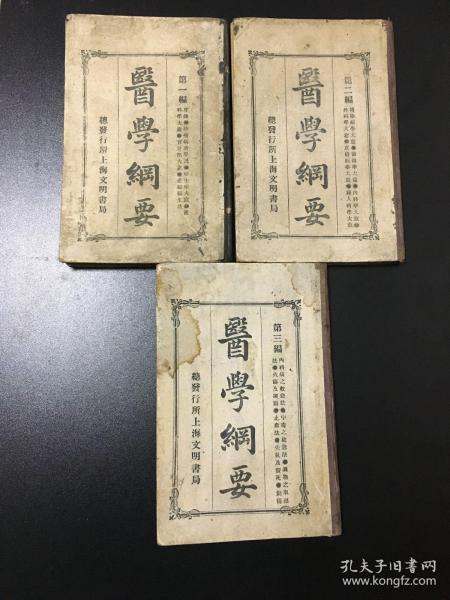 巜医学纲要》精装三册全 宣统元年版