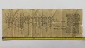 民国十一年《余氏省公会宣言书》《余氏省公会章程》(展开尺寸:78×27cm)