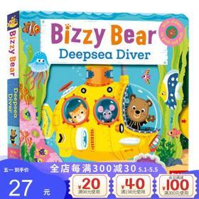 正版全新英文原版绘本 Bizzy Bear Deep-Sea Diver 纸板活动操作书 小熊很忙