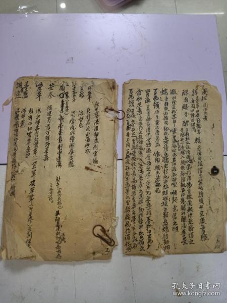 手抄医学书,48面(散开,有虫蛀)