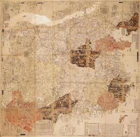 0343古地图1785 大清广舆图 美国国会图书馆藏本。纸本大小108.83*106.43厘米。宣纸艺术微喷复制
