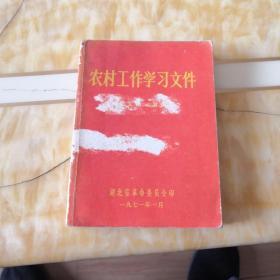 农村工作学习文件