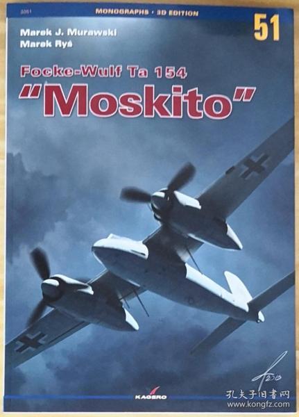 英文原版大开本Focke-Wulf Ta 154