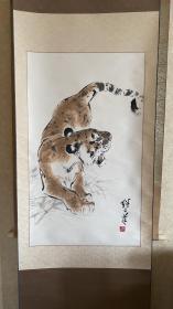 虎 刘继卣 老木版水印