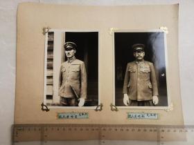 来自侵华日军联队在河北省,山东省,山西省相册,日军将官,军官,贴2张照片,有部队长松崎直人,大队长吉田胜正字样