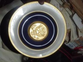 THE GREAT SEAL OF THE UNITED STATES1782-1982  80年代美国镶金边瓷盘