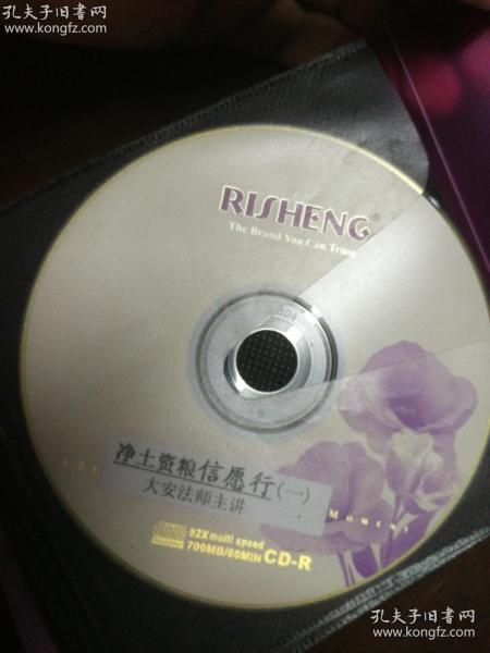 净土资粮 信愿行 大安法师主讲 VCD 1-12碟 光盘