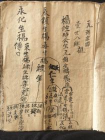 广西地区杨氏族谱手抄本族谱