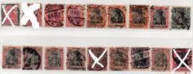 德国邮票,1900-20年戴皇冠的女神日耳曼尼亚,高值,一枚价ZE