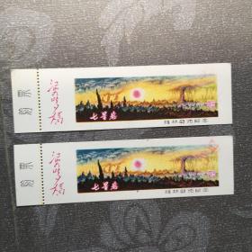 七星岩桂林游览纪念票(2张)