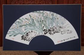 著名画家陈忠洲花卉扇面精品