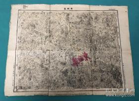 抗战时期,第十八集团军一二九师新一旅参谋处绘河南安阳林县东姚集地图。