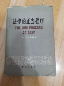 法律的正当程序 精装
