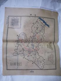 民国地图 ——长宁45•38cm