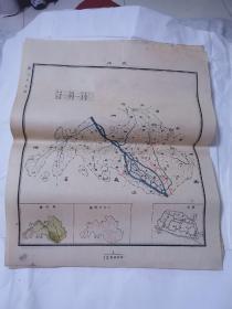 民国地图 ——夹江45•38cm