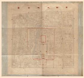 古地图1861-1890 京师九城全图 光绪二十六年后。纸本大小142.24*132.08厘米。宣纸艺术微喷复制。550元包邮