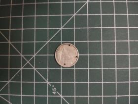 外国硬币加拿大十分小银币,满五十元包邮