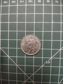 外国硬币菲律宾2皮索,满五十元包邮