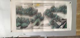 66   名家国画   纯手绘   画心尺寸长宽    64   129厘米