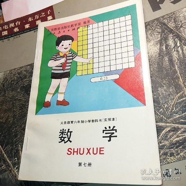 美品 六年制小学教科书 数学 第七册 实验本