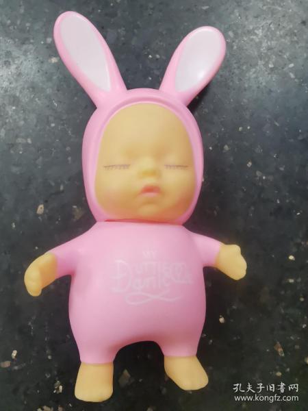 睡宝宝蛋糕装饰摆件可爱粉色兔子卡通公仔烘焙装饰
