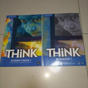 THiNK ( A2) STUDENT'S BOOK +WORKBOOK(2册合售,详见图,内页干净)