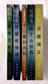 五本合拍:绘画本《花木兰扫北》《十二寡妇出征》《巧破乾坤楼》《月唐演义》《薛丁山征西》