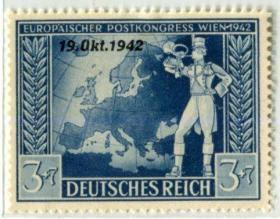 德国1942古代邮政(加字)