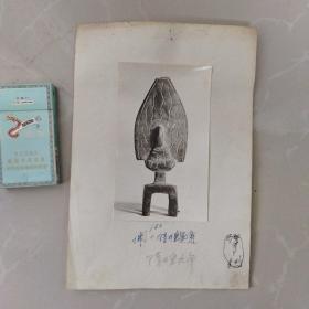 文物机构流出,老照片,隋板凳佛 造像