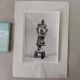 文物机构流出,老照片,北魏板凳佛