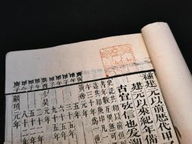 清刻本白纸初印《纪元编》下册(梅州友恭堂旧藏!!!)